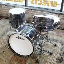 Ludwig Legacy Downbeat Kit w Snare  Finished in Vintage Black Oyster Pearl