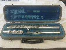 AntiqueVintage Conn Flute-Model 6O-Silver Head-Made c.1958-Overhauled-MINT!