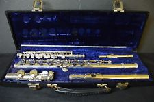 Artley Armstrong Symphony Elkhart-Ind Silver Flute Set with Piccolo Vintage