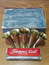 C 1906 TRUMPET CALL HARMONICA WITH ORIGINAL BOX    AWESOME CONDITION