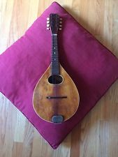 Antique Mandolin A Style Flat back Labeled Columbia (Harmony, Regal?) Wall Hang