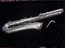Vintage Silver Plate Conn Bass Saxophone - Recently Restored Serial Number 37238