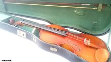 Vintage Antique Old Violin with Case and Bow