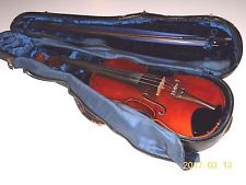 Vintage Violin with Bow and Case   #030817BPC5