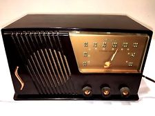 Vintage Silvertone No 15 AM Tube Radio Table Sears Roebuck Bakelite Catalin