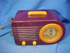 1940s FADA Model A-115 BULLET RADIO w Beautiful TWO COLOR BAKELITE Catalin CASE
