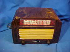 1940s DEWALD Model A-502 RADIO w Beautiful BAKELITE Catalin CASE GOLD + BROWN
