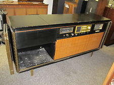 RARE Bell amp; Howell 872 Paul McCobb Console Radio HI-FI  Black Lacquer PROJECT,