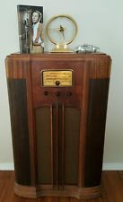 RARE ANTIQUE PRE WAR 1938 GENERAL ELECTRIC GE TUBE CONSOLE SHORT WAVE RADIO F66