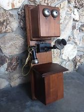 Stromberg Carlson Antique Telephone - Early Red Magneto amp; Metal Bottom Receiver
