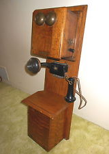 ANTIQUE STROMBERG-CARLSON TIGER OAK DOUBLE BOX TELEPHONE, EARLY 1900S. NICE!