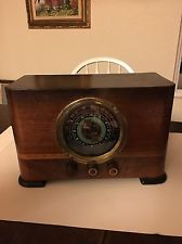 Vintage Antique Art Deco Climax Solid Wood Tube Radio 1920S 1930S Working Rare