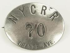 Antique New York Central Railroad Pin Back Employee Badge Cleveland Ohio