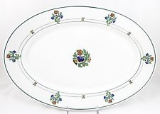 ART DECO ANTIQUE SET(S) 4 BREAD SIDE PLATES ST. ALBANS SYRACUSE RAILROAD CHINA