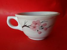 RARE  SYRACUSE CHINA FRED HARVEY HOUSE COFFEE CUP RAILROAD WARE PINK BLOSSOMS