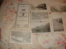 Vintage Real Train Wreck Photo Lot Southern Railroad and Timetable