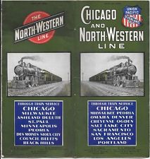 1902 VINTAGE CHICAGO amp; NORTH-WESTERN UNION PACIFIC RAILROAD TIMETABLE SCHEDULE