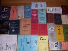 Vintage Railroad Employee Misc. Lot  Manuals, Timetables, Rules, Etc. Obsolete