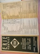 1932 ERIE Railroad NYC New York City Time Table Vintage amp; Original!!! NICE! WOW!