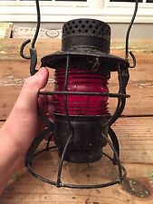 VINTAGE ANTIQUE DIETZ Nycs RAILROAD KEROSENE LANTERN  New York 13 Inch