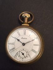 Antique Vintage Sears Pocket Watch Railroad Works!