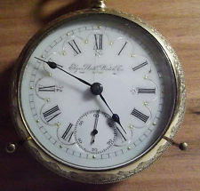 Antique Vintage 1898 Elgin 21j  18s RAILROAD GRADE 150 MODEL 5 RUNS Pocket Watch