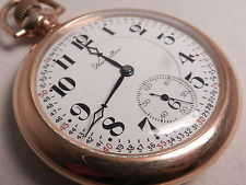 ANTIQUE HAMILTON 922 RAILROAD POCKET WATCH,c1916,14kGF KEYSTONE SWING-OUT MVMT