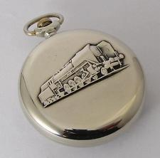EXPORT Molnija RAILROAD Vintage USSR ANTIQUE Mechanical Pocket watch 1970s TRAIN