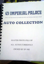 RARE IMPERIAL PALACE AUTO COLLECTION FINAL INVENTORY INTERNAL CATALOG
