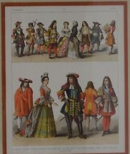 Antique year 1600 French hierarchical color printbook plate 89