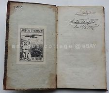 1829 antique danish CARL FRIDERICH REISERS anton thomsen bookplate mythical sig