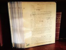 Napoleon Hill 20 Hand Typed Signed Pages From Hills Personal Writings Lot#2
