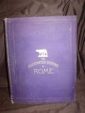 1883 The illustrated history of rome Edward gibbon M.A vintage antique book chic