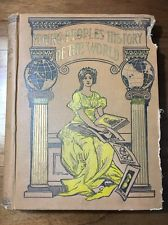 Young Peoples History Of The World Vintage Antique School Book Primer 1899 Illu