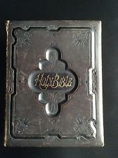 Antique 1889 Leather Bound Bible