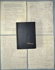 ERNEST HEMINGWAY ORIGINAL(4) TYPEWRITING PAGES SIGNED W PENCIL HAND CORRECTIONS