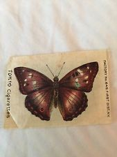 6 Antique Vintage TOKIO Butterfly And Moth Cigarette Cards Factory No.649