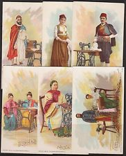 (36) DIFFERENT THE SINGER MANUFACTURING Co. ADVERTISING CARDS WL5336