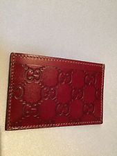 Gucci Red Card Case - New With Tags, In Gucci Gift Box - Valentines Day
