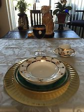 CHRISTIAN DIOR FINE CHINA DINNERWARE SET FOR 6CASABLANCA LEOPARDS AND PALMS