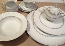 43 Piece Set Modern China and Table Institute Heritage 5575 All Excellent!