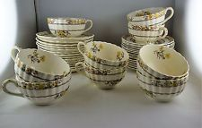 Asst.Spode Buttercup China Dinnerware - 9 Cup + Saucer Sets and 16 Bread Plates