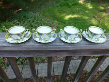 Tamp;V France Depose (4) Cup and Saucer vintage antique Limoges China Dinnerware