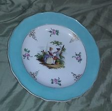 Meissen Antique Porcelain China Plate Hand Painted Beautiful Scenic estate