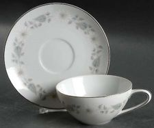 Noritake Wedding China Wellesley Dinnerware Cup and  Saucer
