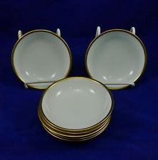 Antique RS GERMANY PRUSSIA Berry Bowl Gold Trim BLUE MARK China PORCELAIN 7 Lot