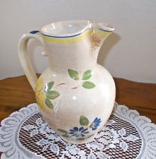 Red Wing Pottery Handled Pitcher Brittany Dinnerware Pattern