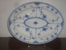 Royal Copenhagen Blue Fluted 12 Lace fine china 1- oval platter new hand painte