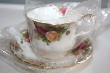 NEW IN BOX - Royal Doulton China; Tea Cups, Saucers and Plates Gold Plated Rims