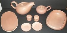 8  Russel Wright American Modern Coral Dinnerware Serving Pieces